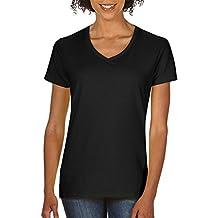 5V00L Gildan Heavy Cotton™ Women's V-Neck T-Shirt