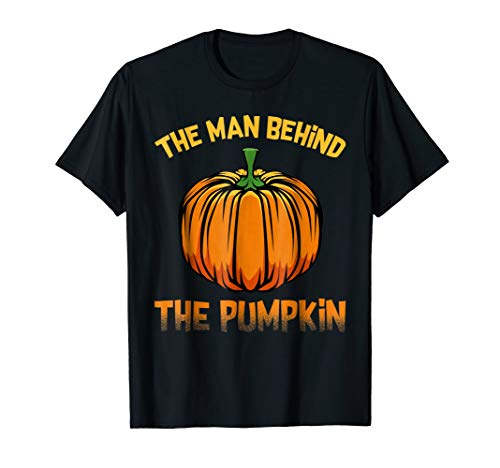 The Man Behind The Pumpkin Easy Funny Scary Halloween Tshirt -