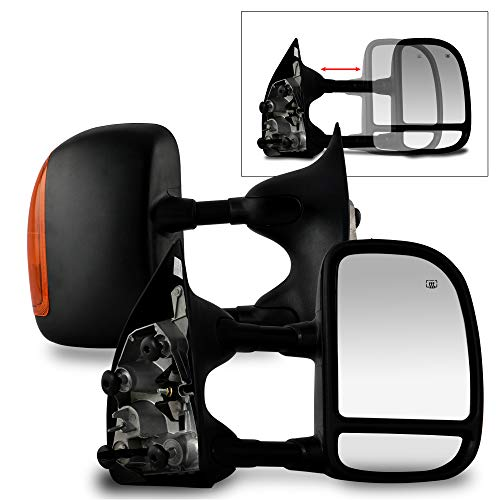Make Auto Parts Manufacturing Right/Passenger Side Power Heated Manual Folding Textured Black Towing Mirror For Ford F250 F350 F450 F550 Super Duty 2003-2007 - FO1321268