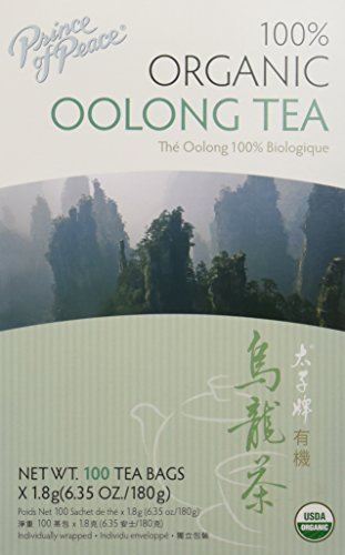 Prince of Peace Organic Oolong Tea - 100 Tea Bags (Pack of 3) - Prince Organic Tea