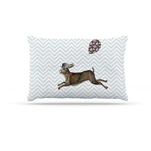 Kess InHouse Suzanne Carter Hare Today  Fleece Dog Bed, 50 by 60 , Rabbit