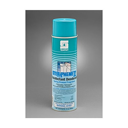 - Spartan Steriphene II Disinfectant Deodorizer, Spring Breeze, 20 oz aerosol, Case of 12