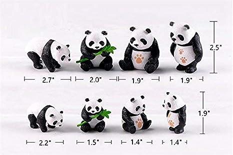 Khosd Enfants Jouets 10 Pi/èces Mignon en Bois Panda Peinture Nidification Poup/ées Russe Poup/ée Matryoshka Cadeau Peinture Jouets D/écoration De La Maison D/écoration De Bureau