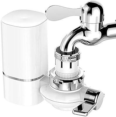 WAIV Filtro de Agua, Cartucho de cerámica sinterizado con purificador de Aire, Elimina el 93% de Cloro, Plomo, flúor y más, 3 Conexiones de Grifo, Adecuado para una Variedad de grifos.: Amazon.es: