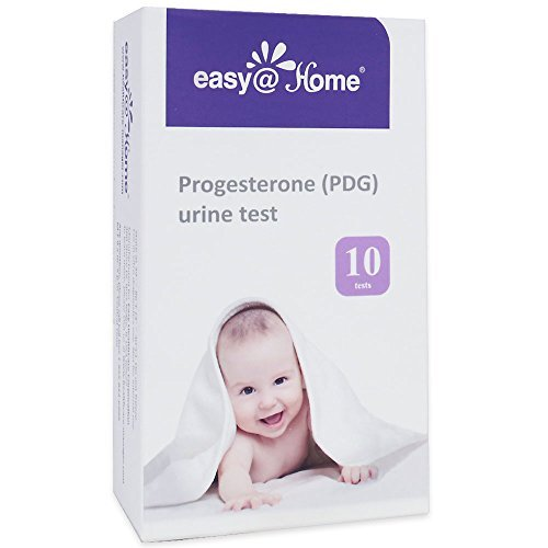 Easy@Home Progesterone (PDG Test) Urine Test Strips Kit -10 Tests, Newly Launched FDA Registered Ovulation Confirmation Test