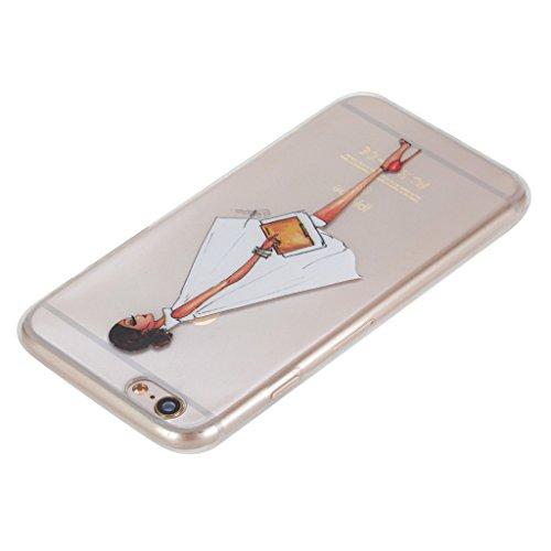 Robe blanche Fille Premium gel transparent TPU souple Clair Bumper silicone protection Housse arrière coque étui Pour Apple iPhone 6 6S 4.7'' (4,7'')