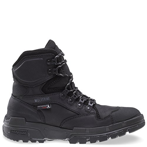 Wolverine Men's Legend 6 Inch Waterproof Comp Toe-M Work Boot, Black, 8 3E US