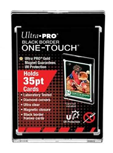 (Card Storage Accessories Ultra Pro One-Touch Magnetic Holder - 35pt Black Border (5 Pack) SW)