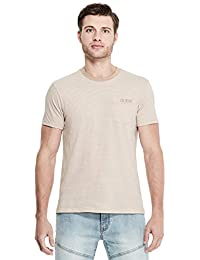 Men's Dev Striped Logo Front Pocket Tee
