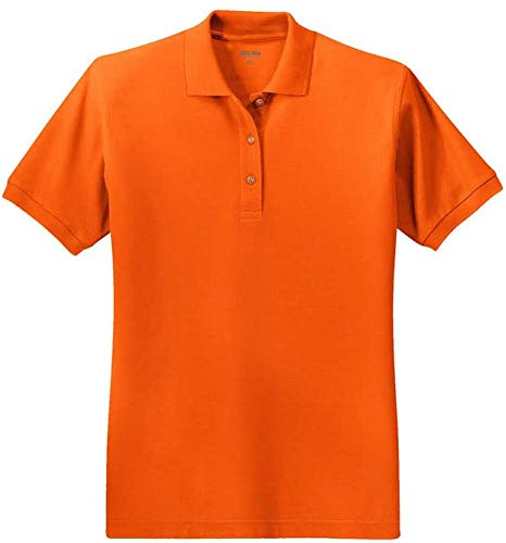 Joe's USA Ladies Short Sleeve Polo Shirt-Orange-2XL ()