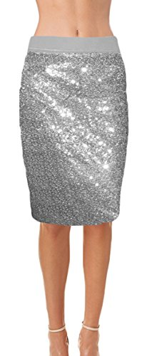 ly Lined Sequin Pencil Skirt with Soft Stretch Waistband 340316L (Soft Stretch Skirt)
