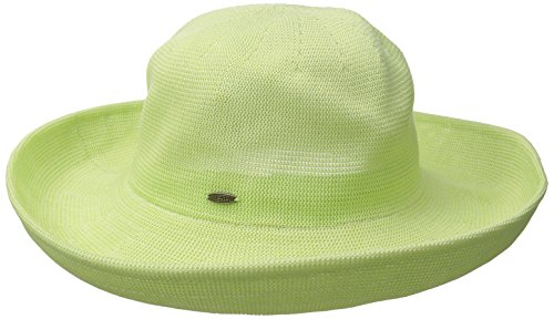scala-womens-knitted-poly-straw-big-brim-hat-lime-one-size