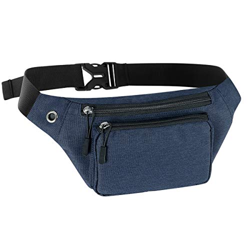 Kamo Fanny Pack, Waist Bag Sling Backpack Water Resistant Durable Polyester Small Outdoor Lightweight Crossbody Daypack for Women Men Lady Girl - Bag Polyester Waist