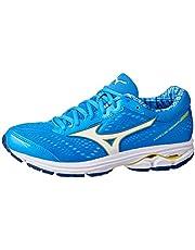 Mizuno Australia Women's Wave Rider 22 Running Shoes, Brilliant Blue/White/Primrose Yellow, 7.5 US