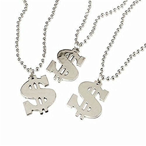 Dollar Sign Necklaces (Dollar Sign Necklace (2-Packs of 12)