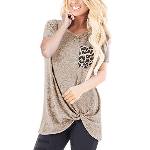 (TnaIolral Women Tops Loose Sleeveless O-Neck Solid T-Shirt Blouse)