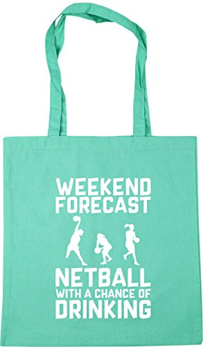 Chance x38cm Beach Tote Netball litres Gym Shopping of 42cm a HippoWarehouse Bag Weekend Drinking 10 Mint Forecast with qwn8E6PX