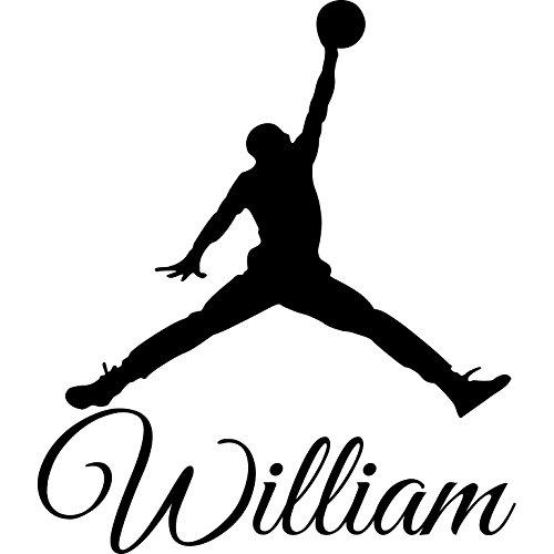 Adhesivos de pared personalizada nombre de Baloncesto vinilo de la ...