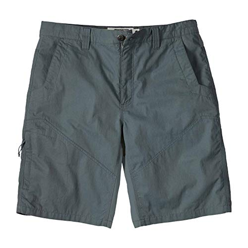 Mountain Khakis Mens Original Trail Short Classic Fit: Sun Protection Hybrid Outdoor Casual Hiking Shorts, Gunmetal, 36W 10In