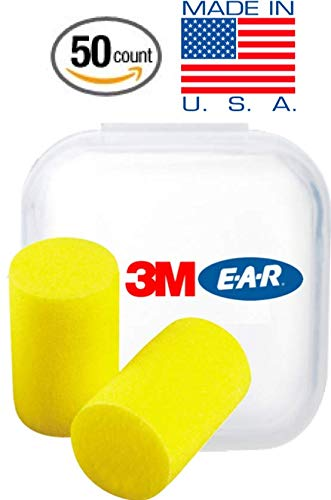 3M Classic Ear Plugs, Foam Earplugs for Noise Reduction and Sleep 50 Count in a Jar by 3M Protective Equipment (Image #3)