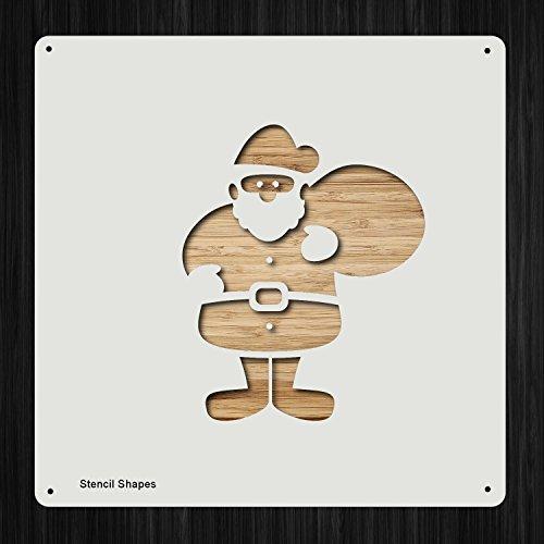 サンタクロース サンタクロース ウィンターサンタそりおもちゃ プラスチックマイラーステンシル 塗装、壁、クラフト用 商品248954