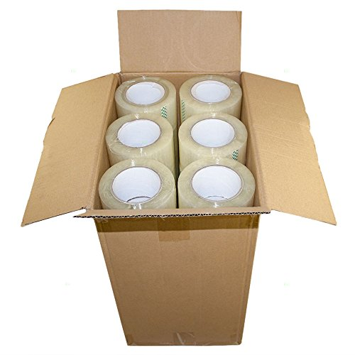 Case 36 Rolls Clear Shipping Tape 3'' x 110 Yards 2.4 Mil Sealing Package Carton Box for Warehouse Shipping Retail by AUTOANDART