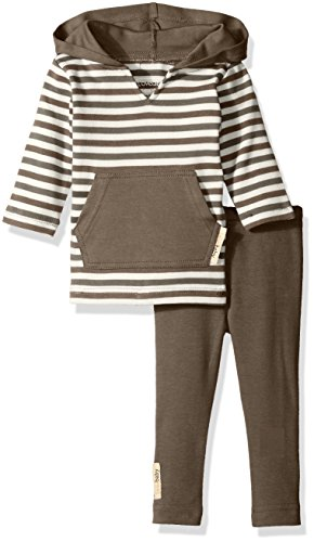 UPC 849726033134, L'ovedbaby Baby Boys' Organic Hoodie and Leggings Gift Set, Gray Stripe, 6-9 Months