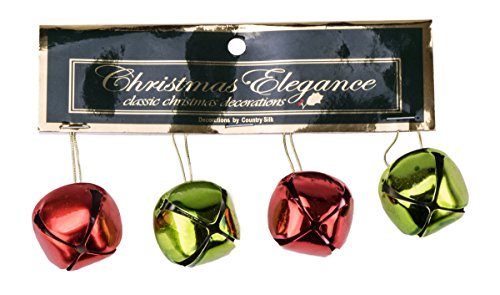 Jingle Bells Gift (Assorted Red and Green Christmas Jingle Bells - Variety Set of 4)