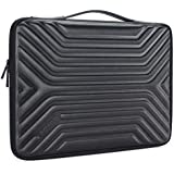 "DOMISO 15.6 Inch Shockproof Waterproof Laptop Sleeve with Handle Lightweight Soft EVA Tablet Case for 15.6"" Laptops / Apple / Lenovo IdeaPad / Acer Aspire E15 / HP Envy 15 / Dell / ASUS , Black"