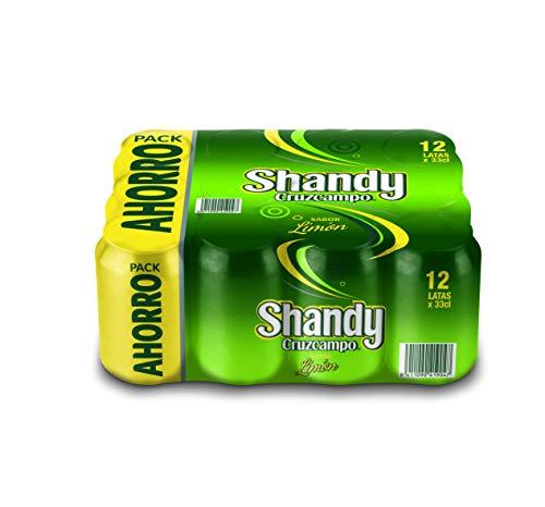 Cruzcampo Shandy Cerveza Limón – Paquete de 12 x 330 ml (Total: 3960 ml)