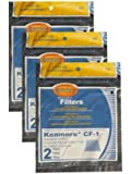 (6) Kenmore Sears Progressive Foam Filter CF1, Progressive & Whispertone, Panasonic Vacuum Cleaners, 86883, 86880, 20-86883, 2086883, 8175084