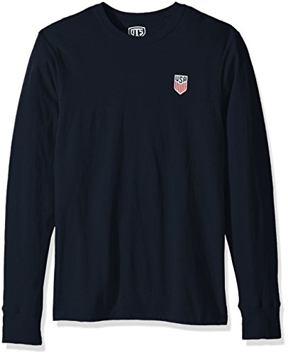 - World Cup Soccer Men's OTS Rival Long Sleeve Tee, U.S. Men's Soccer Team, Hudson Navy, X-Large