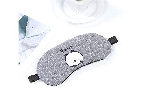 Blueqier Conveniente Fumetto cotone sonno maschera per gli occhi ombra pacchetto ghiaccio permeabilità benda (grigio) per dormire