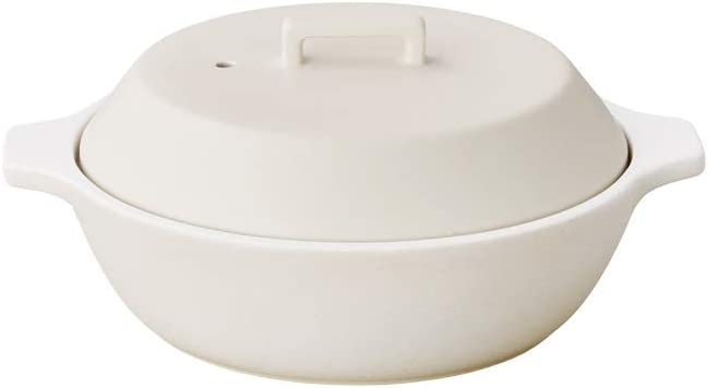 Kinto KAKOMI IH Donabe White 40.6oz / 1.2L Clay Pot To Steam, Simmer, And Stew To Make Various Pot-dishes.