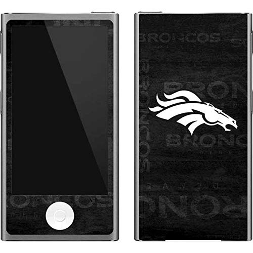 Skinit NFL Denver Broncos iPod Nano (7th Gen&2012) Skin - Denver Broncos Black & White Design - Ultra Thin, Lightweight Vinyl Decal Protection - Denver Broncos Nfl Nano
