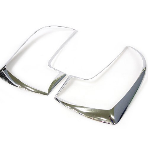 AUTOCLOVER Rear Chrome Tail Light Lamp Trim Molding Cover 2pc Set For 2011 2012 2013 Kia All New Picanto