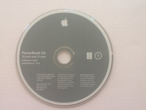 PowerBook G4 15-inch and 17-inch Mac OS X Install Disk v.10.3.3 ()