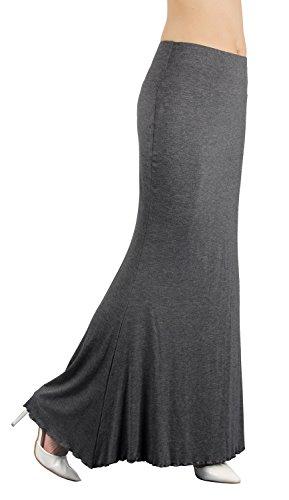 iLoveSIA Bodycon Vestido largo de la Falda del estiramiento para Mujer Gris