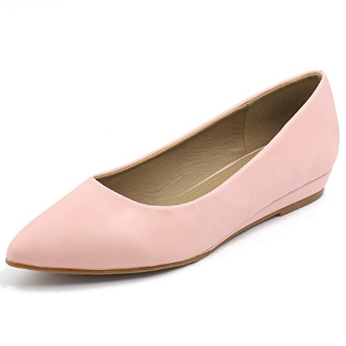 Allegra K Womens Printed Pointed Toe Flats Light Pink