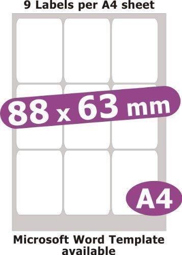 Amazon.com: Minilabel 88 x 63 mm, 45 etiquetas, papel mate ...