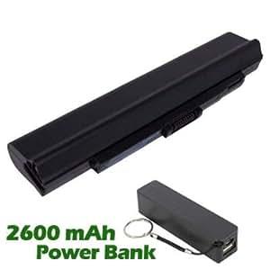 Battpit Bateria de repuesto para portátiles Acer Aspire One 751h-1524 (4400mah / 49wh) con 2600mAh Banco de energía / batería externa (negro) para Smartphone
