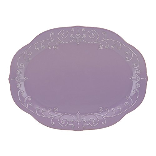 French Oval Platter (Lenox French Perle Violet Oval Platter)