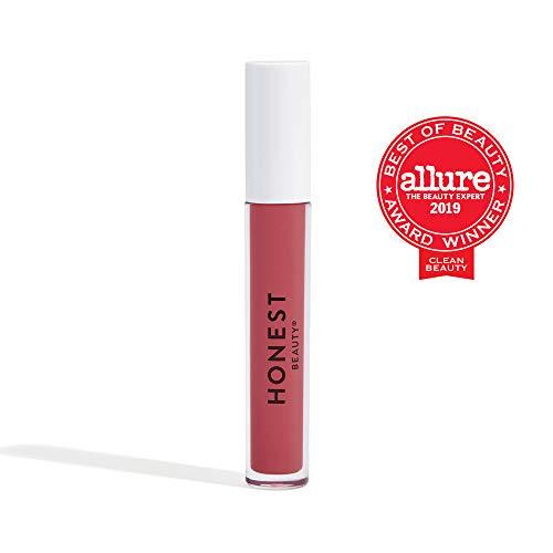 Honest Beauty Liquid Lipstick, Passion | Vegan | Hydrating All-Day Wear & Flex Feel | Synthetic Film Formers Free, Silicone Free, Cruelty Free | 0.12 fl. oz