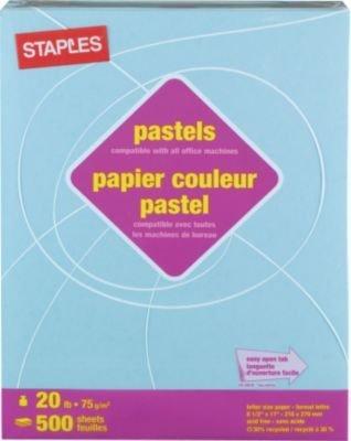 Staples Pastel Colored Copy Paper