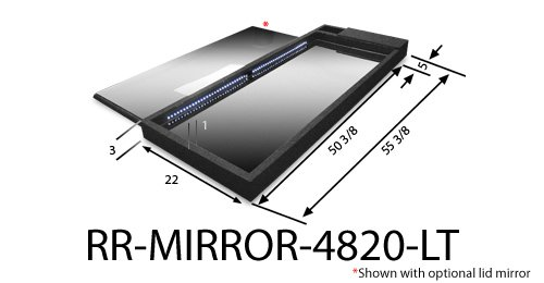 Race Ramps RR-MIRROR-4820-LT Lighted Show Mirror