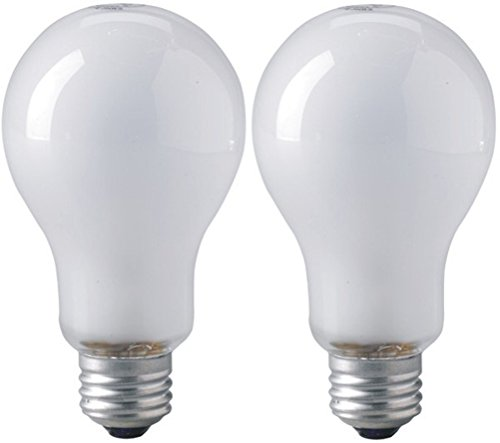 Eiko 01980 - ECT Medium Screw (E26) Inside Frosted White Photoflood Light Bulb - Pack of 2 (Light Eiko Bulb Incandescent White)