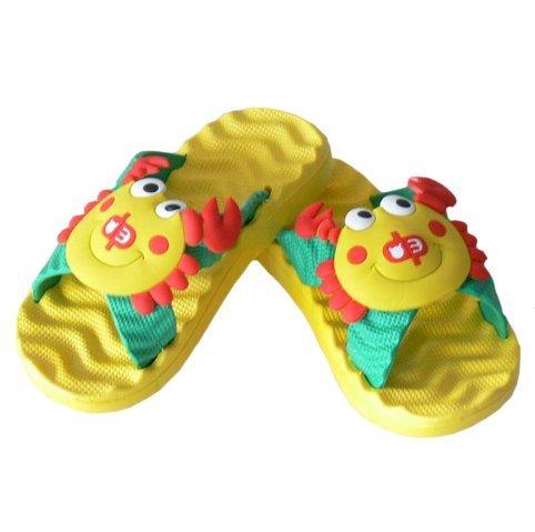 Diapolo Professionale Schlappen Badeschlappen Krebs Kinder Badeschuhe Schwimmschuhe Sandalen Mädchen Jungen Sommer Flip Flops 29 30 31 32 33 34 Gelb