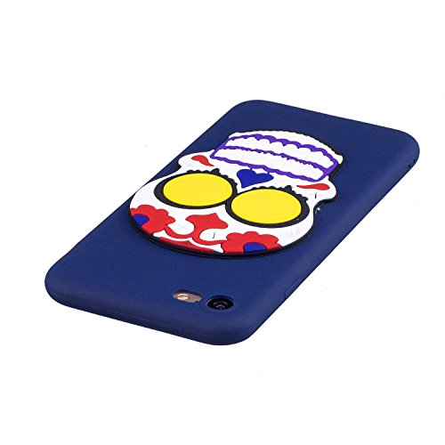 iPhone 7 / 8 Hülle , Leiai 3D Schädel Leicht TPU Weich Tasche Schutzhülle Silikon Etui Handyhülle Stoßdämpfende Schale Fall Case Shell für Apple iPhone 7 / 8