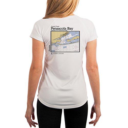 Altered Latitudes Women's Pensacola Bay Chart UPF 50+ Short Sleeve T-Shirt XX-Large White