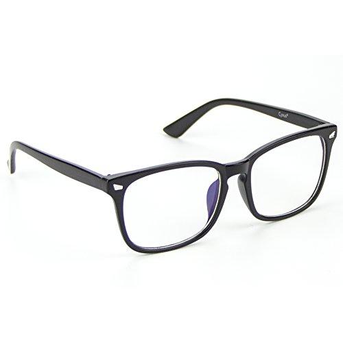 Cyxus Blue Light UV Blocking Reading Glasses, Anti Eyestrain Eyewear, Matte Black Frame